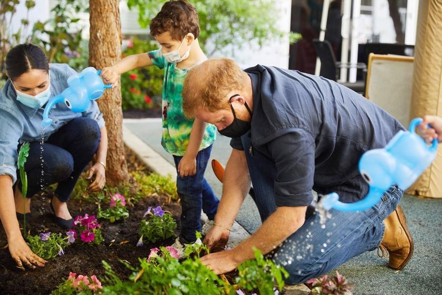 Принц Гарри и Меган Маркл посадили любимые цветы Дианы в годовщину ее смерти