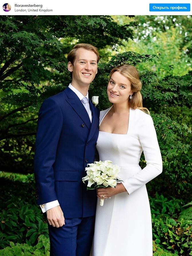 Внучка кузины британской королевы Флора Огилви вышла замуж