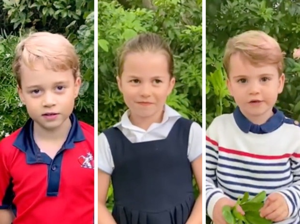«Такие взрослые!»: первое сольное видео Джорджа, Шарлотты и Луи стало вирусным