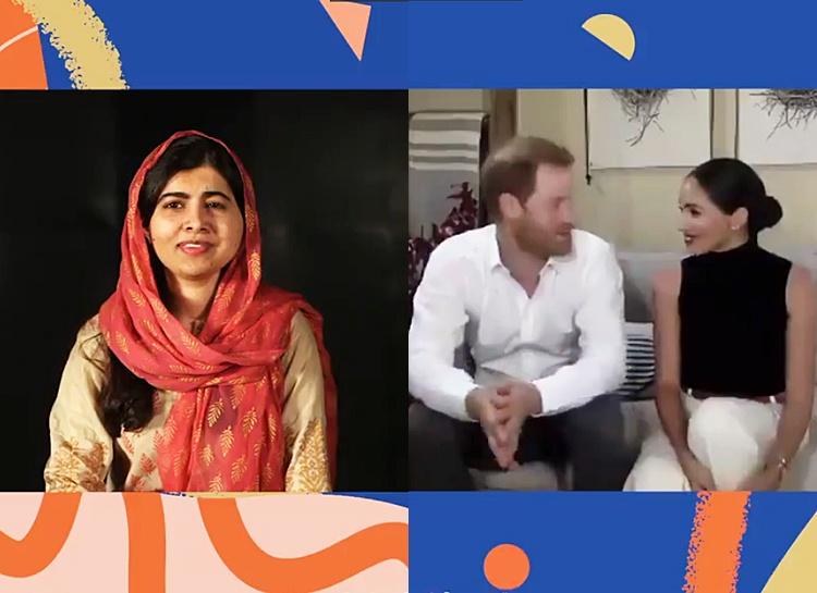 Принц Гарри и Меган Маркл провели виртуальную встречу с правозащитницей Малалой Юсуфзай