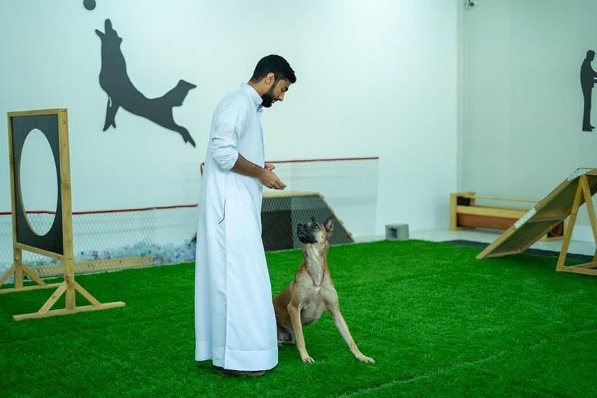 Шейх Рашид из Аджмана посетил центр дрессировки собак