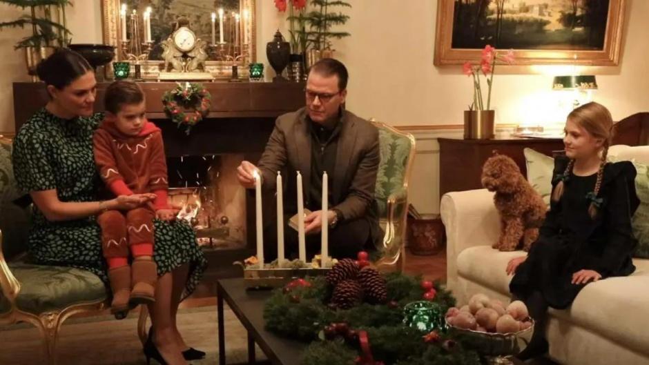 Рождественские венки в преддверии Рождества от детей кронпринцессы Виктории