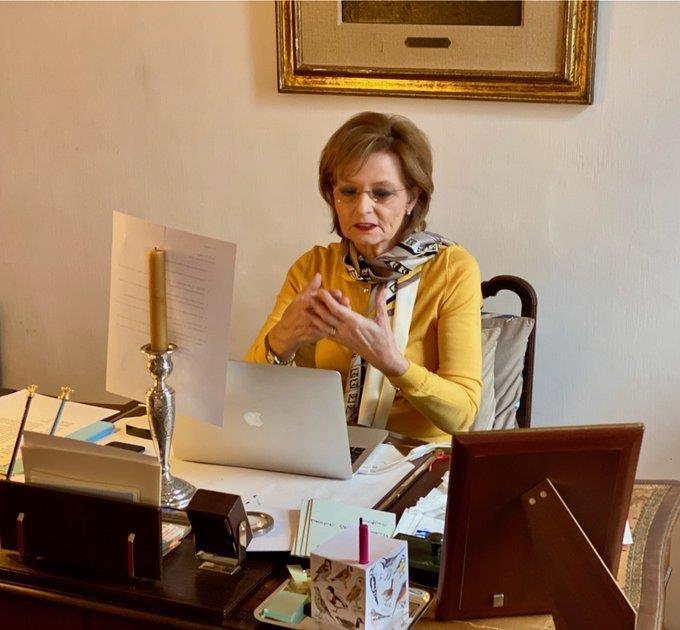 Принцесса Румынии приняла участие в онлайн-встрече