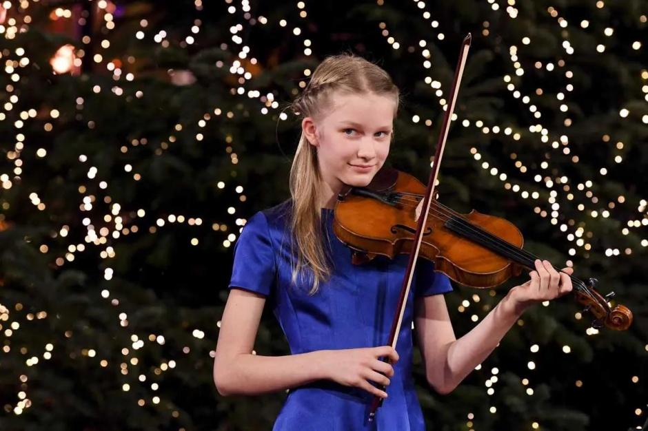 Принцесса Элеонора и принц Эммануэль из Бельгии участвуют в Рождественском концерте