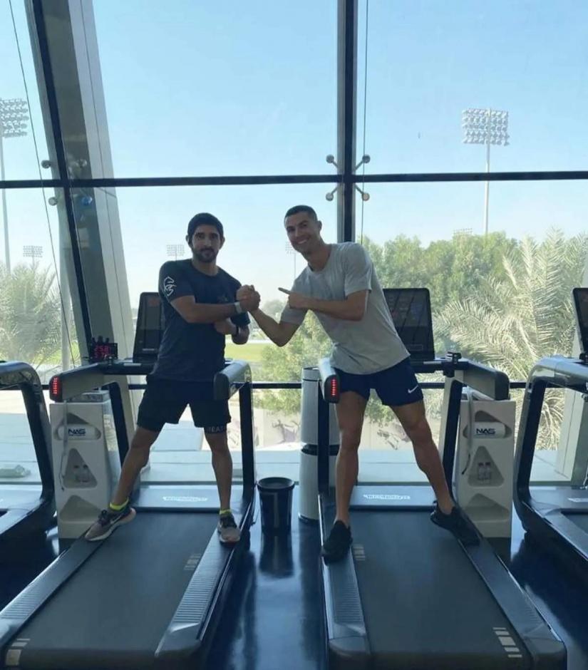 Наследный принц Дубая принц Хамдан и Криштиану Роналду тренируются вместе