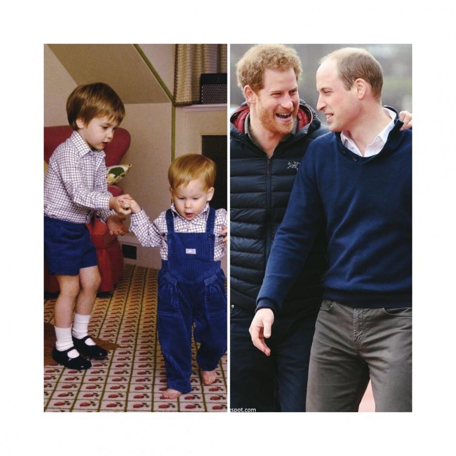 Королевские братья: лучшие моменты прицев Уильяма и Гарри в фотографиях