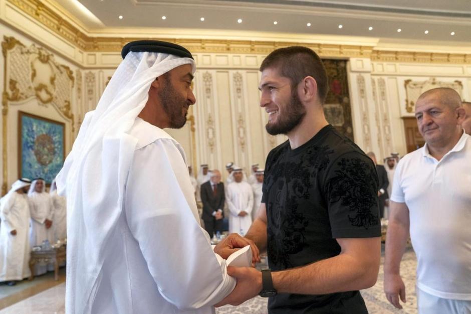 Наследный принц Абу-Даби встретился с Нурмагомедовым