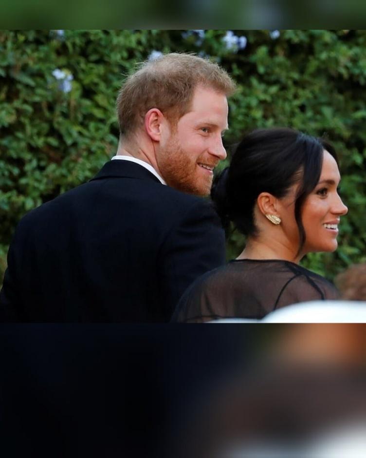 Меган Маркл и Гарри на свадьбе в Риме.