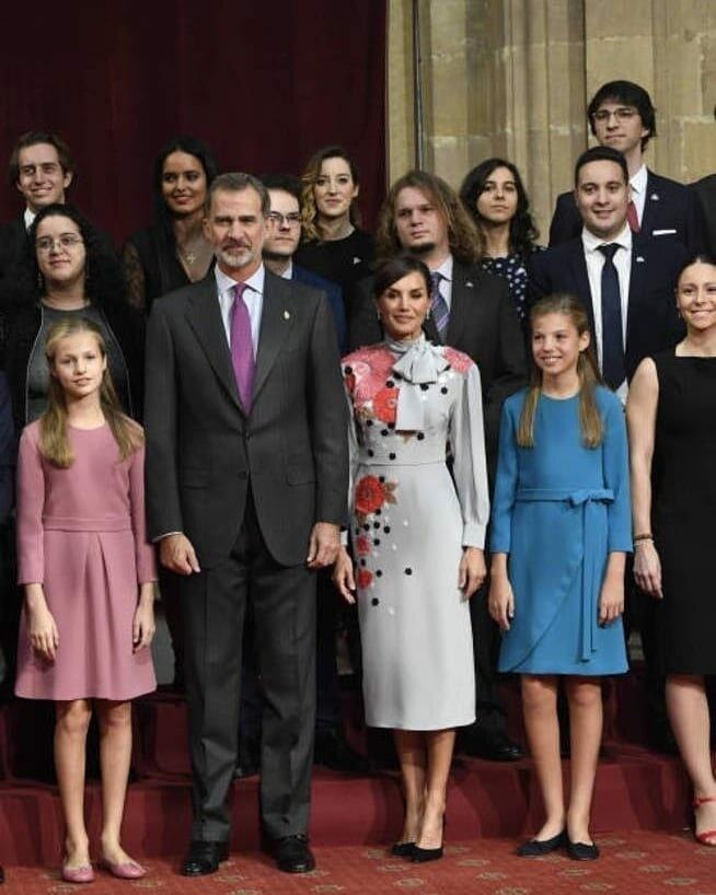 Королевская семья Испании на встрече с лауреатами премии принцессы Астурийской