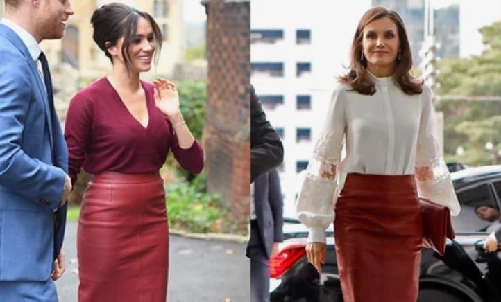 Вкусы совпадают: Меган Маркл и королева Испании Летиция вышли в свет в одинаковых юбках