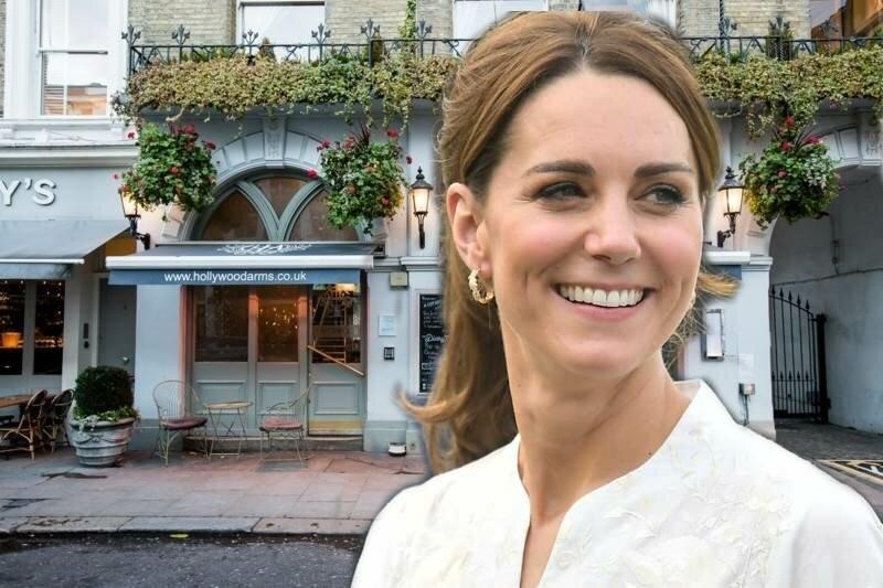 Кейт Миддлтон посетила паб Hollywood Arms через секретный вход для принца Гарри