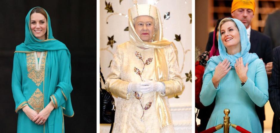 Сравним? Хиджаб по-королевски