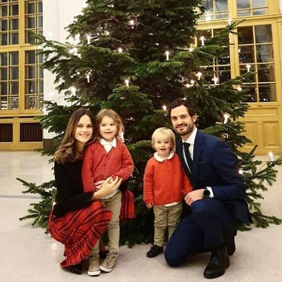 Принцесса София и Карл Филипп, во всем блеске, на Рождественской открытке семьи