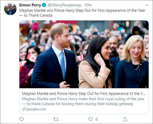 Герцоги Сассекские нанесли визит в Высокую комиссию Канады