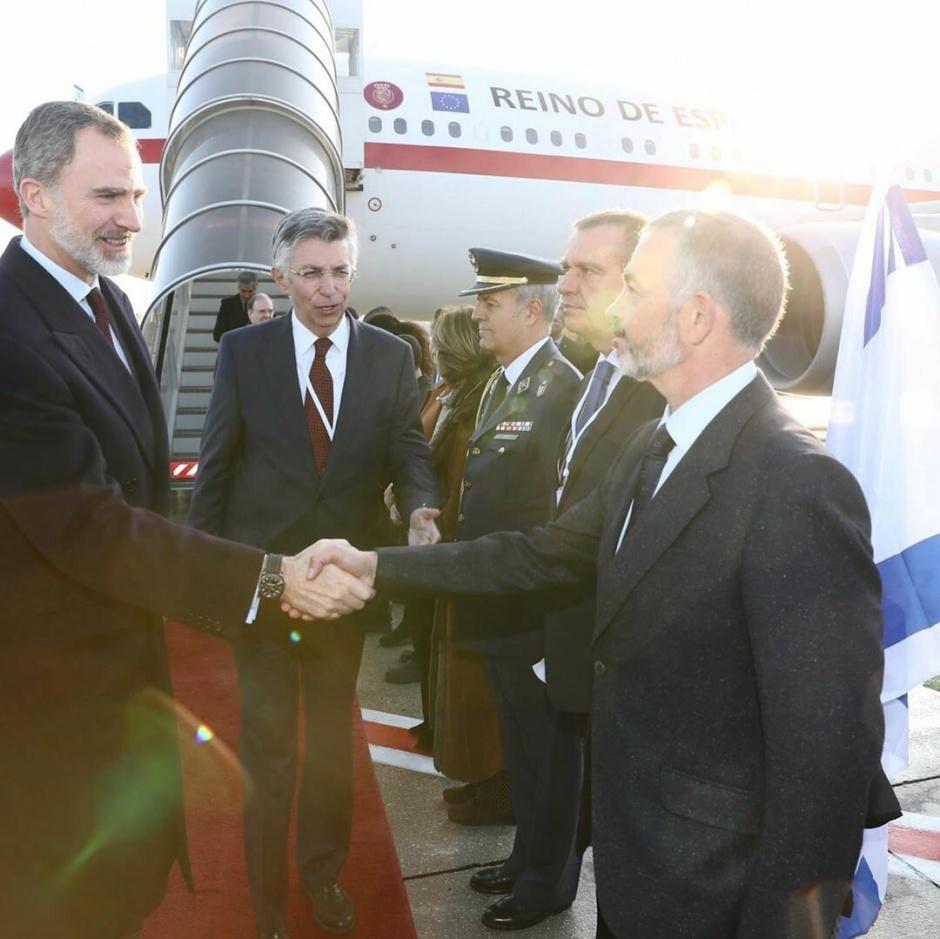 Король Испании прибыл в Израиль на Всемирный форум памяти Холокоста