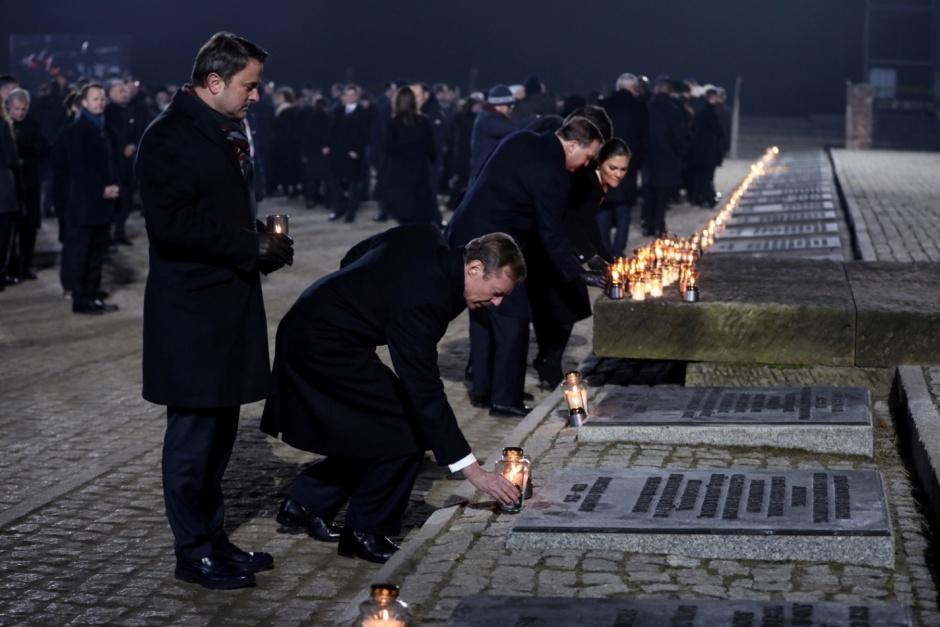 Церемония памяти жертв Холокоста в Освенциме