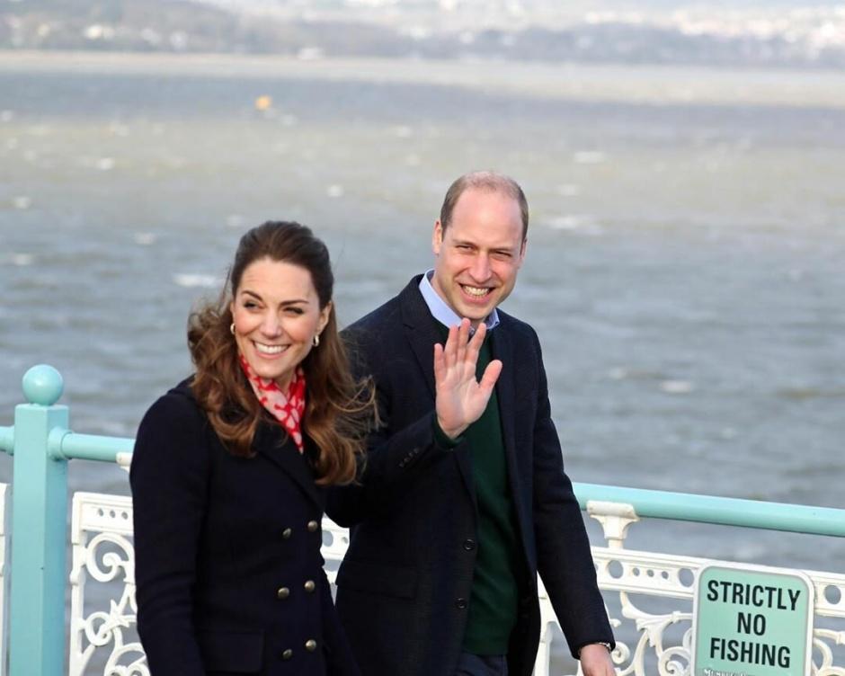 Герцог и герцогиня Кембриджские посетили порт-Толбот