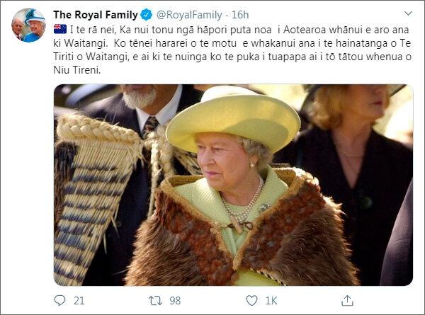 Королевская семья поздравила с национальным праздником Новую Зеландию