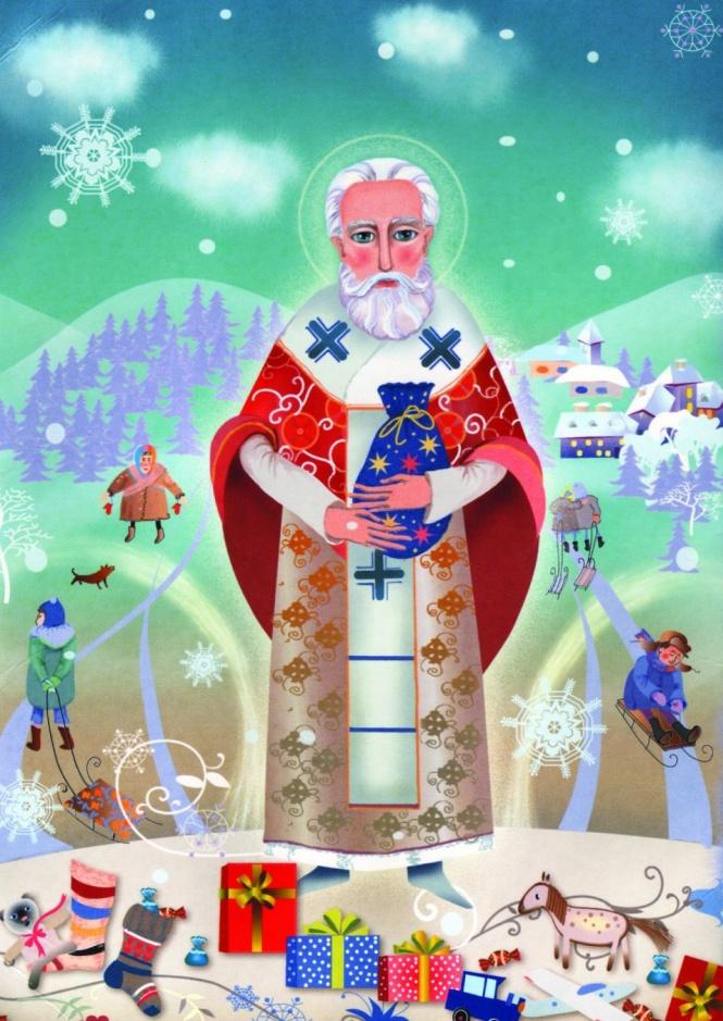 рисунок ко дню святого николая фото знаменитое стихотворение