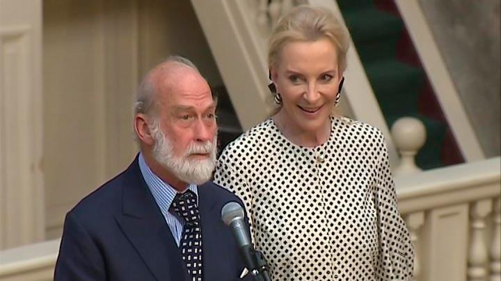 Принц и принцесса Кентские пришли на прием к открытию Книжного салона